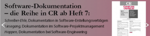 Screenshot Software-Dokumentation